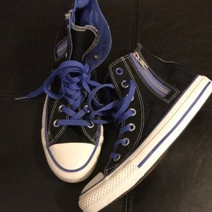 Converse Hi-Top with side zipper